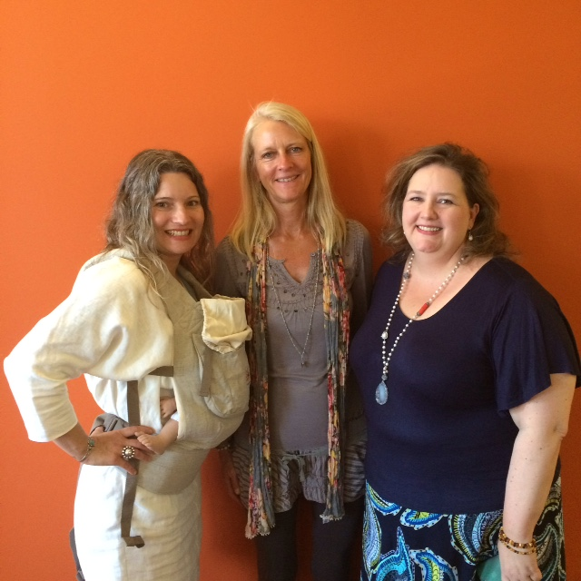 L-R: CHRISTINA SOLETTI, ERGOBABY FOUNDER KARIN FROST, JOANNA MCNEILLY