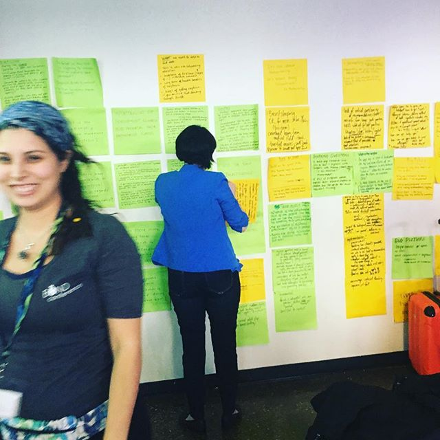 The post it note wall #bondconference