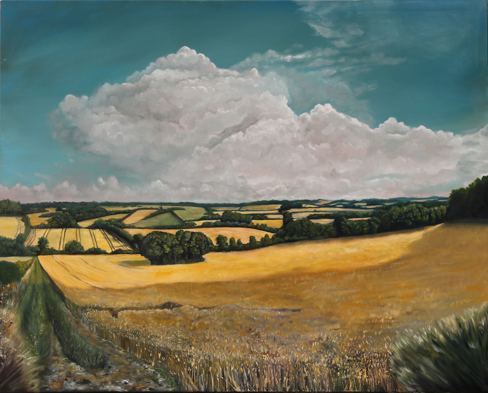 Second Gateway   - Luke's stunning oil landscape of Hampshire Countryside