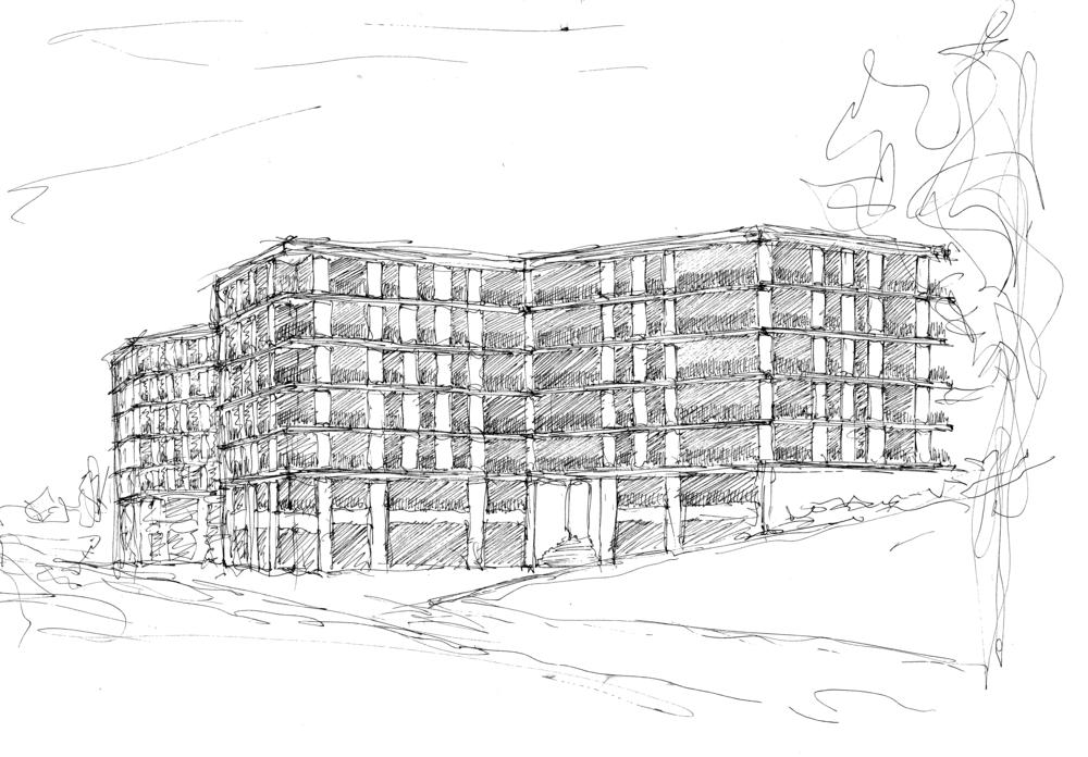 Immeubles de logements, Quartier du Désert, Lausanne