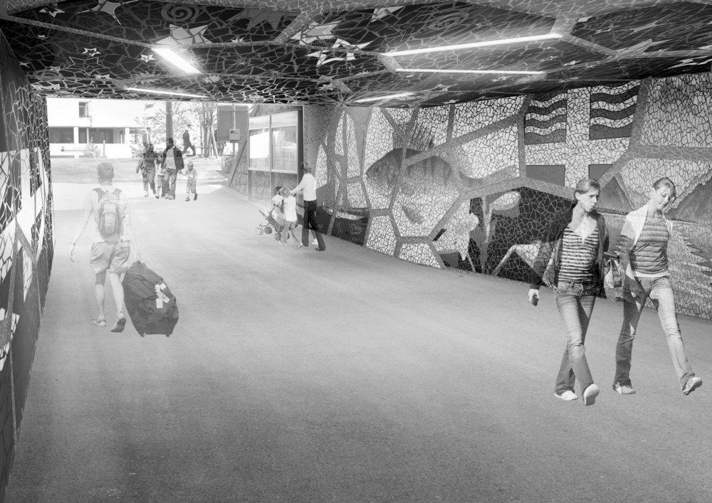 Rénovation et recalcification du passage sous voies, Versoix (GE)