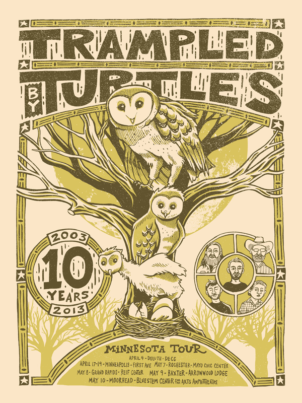 TRAMPLED BY TURTLES 10 YEAR POSTER