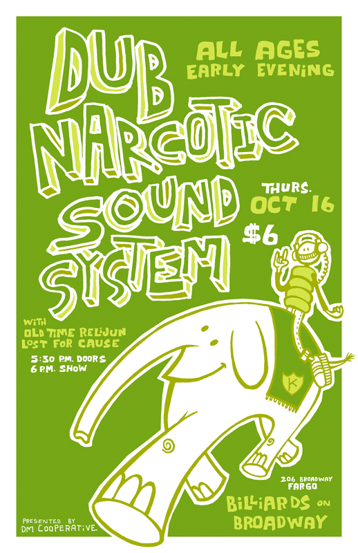 DUB NARCOTIC SOUND SYSTEM POSTER