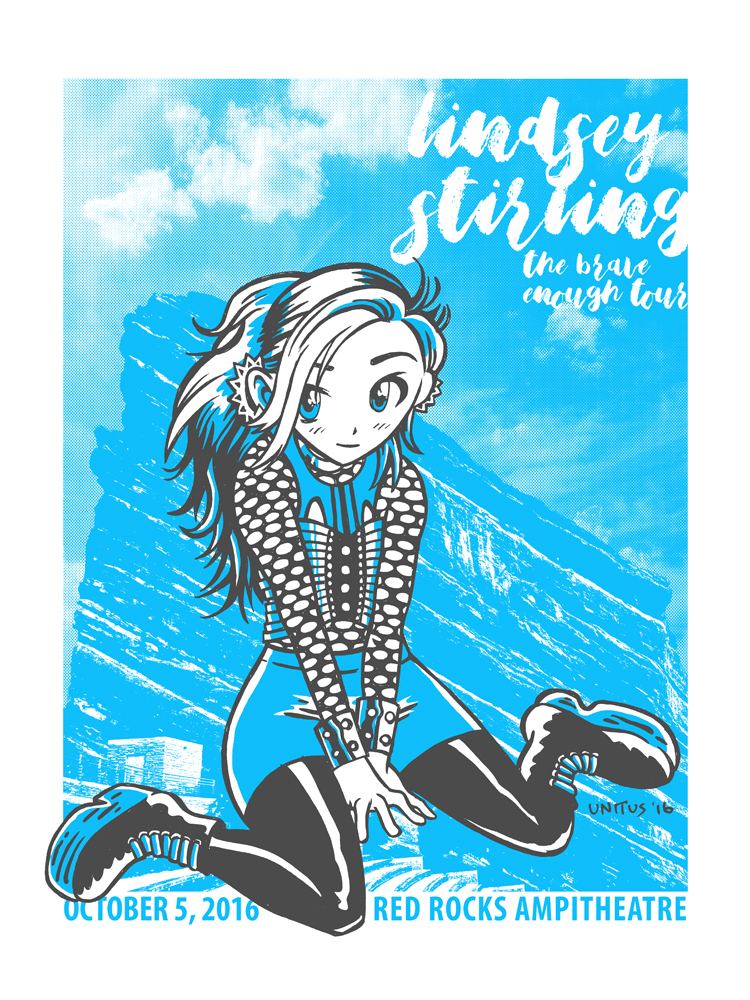 Lindsey Stirling at Red Rocks poster