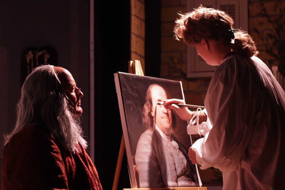 Marty Graffenius as Benjamin Franklin poses for a self portrait.