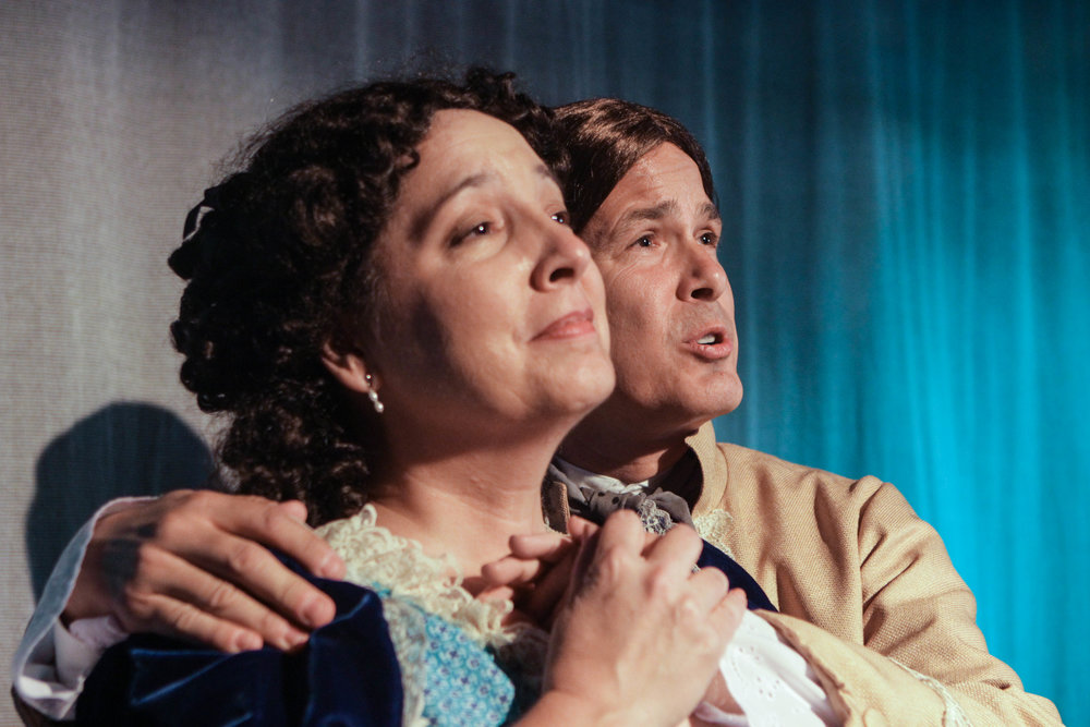 Anne Elise Ritche and James Skiba as Abigail and John Adams.
