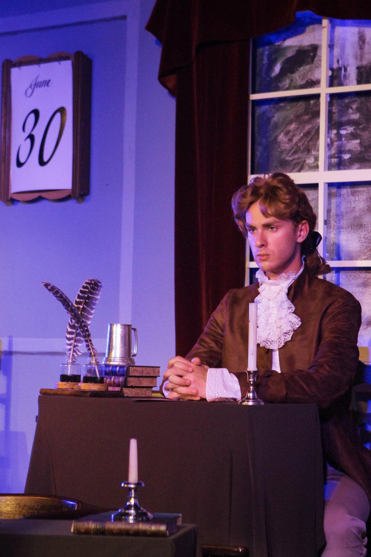 Noah Chudy as Thomas Jefferson.