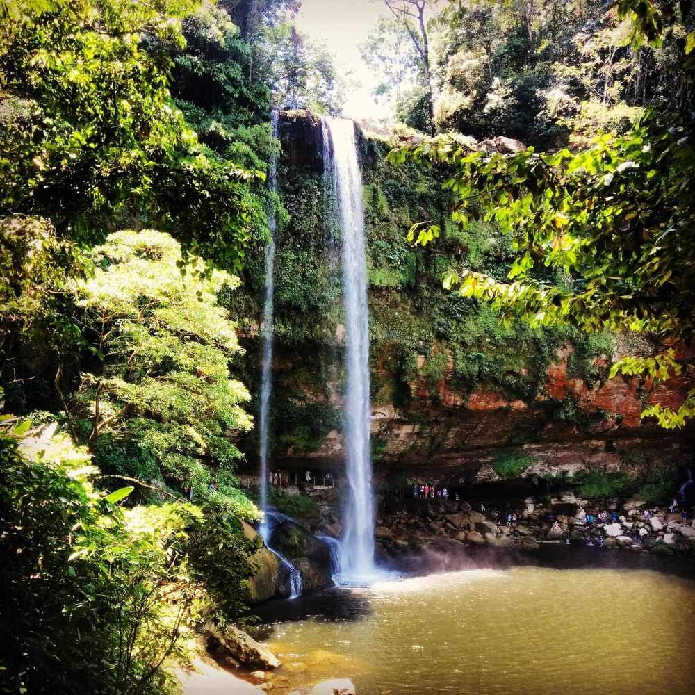 The equally impressive Misol-Ha waterfall also outside of Palenque.