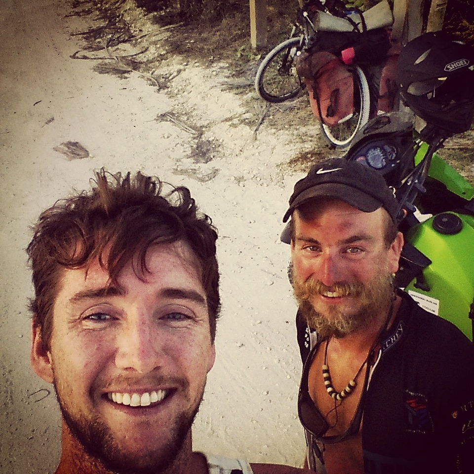 This legend of a Polishman Marcin had cycled from Patagonia and was finishing in Cancun. He'd been on the road for nearly three years. He'd lived in Offaly randomly enough and had some great stories about his travels. I stumbled across him while he was searching for a campsite on the beach in Tulum.