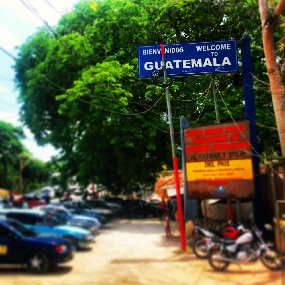 My first glimpse of Guatemala at the border.