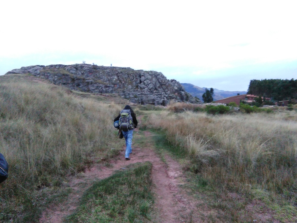 Shortly after arriving we walked to an old Incan ruin to meet the master shaman