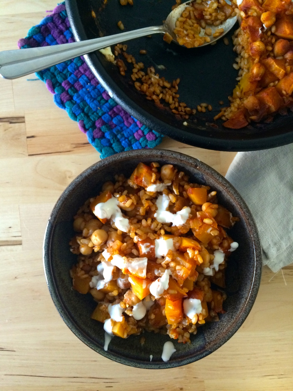 and rice ½ cup short grain brown rice curried butternut squash and ...