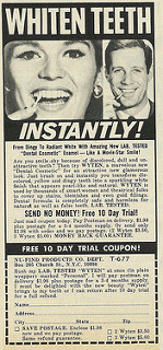 1971 Ad, Wyten Dental Cosmetic Enamel, with Free 10-Day Trial Coupon. Published in For Teens Only magazine, September 1971 - Vol. 8 No. 3; posted by Classic Film. Via  Flickr .