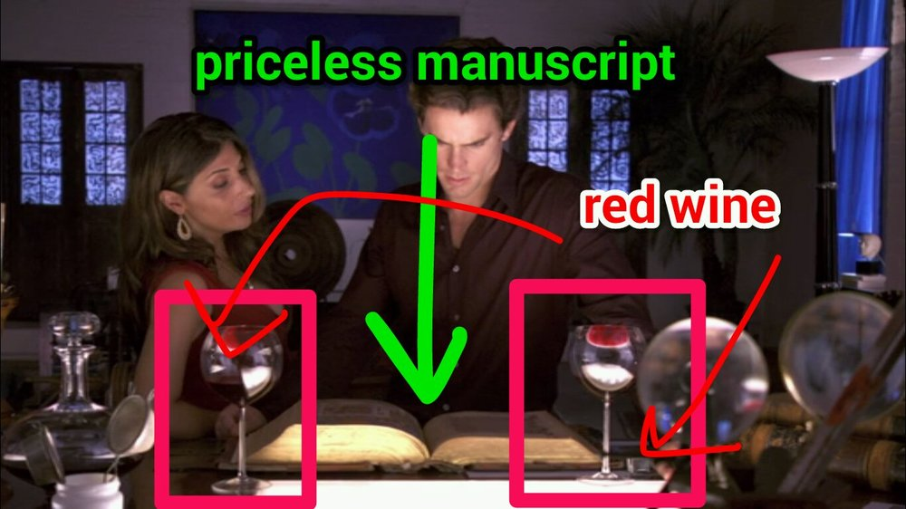 Fig. 1. Red wine is bad for manuscripts. FACT.