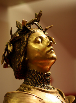 """Joan of Arc, light alteration"" by Anne Petersen (2008). Via  Flickr ."