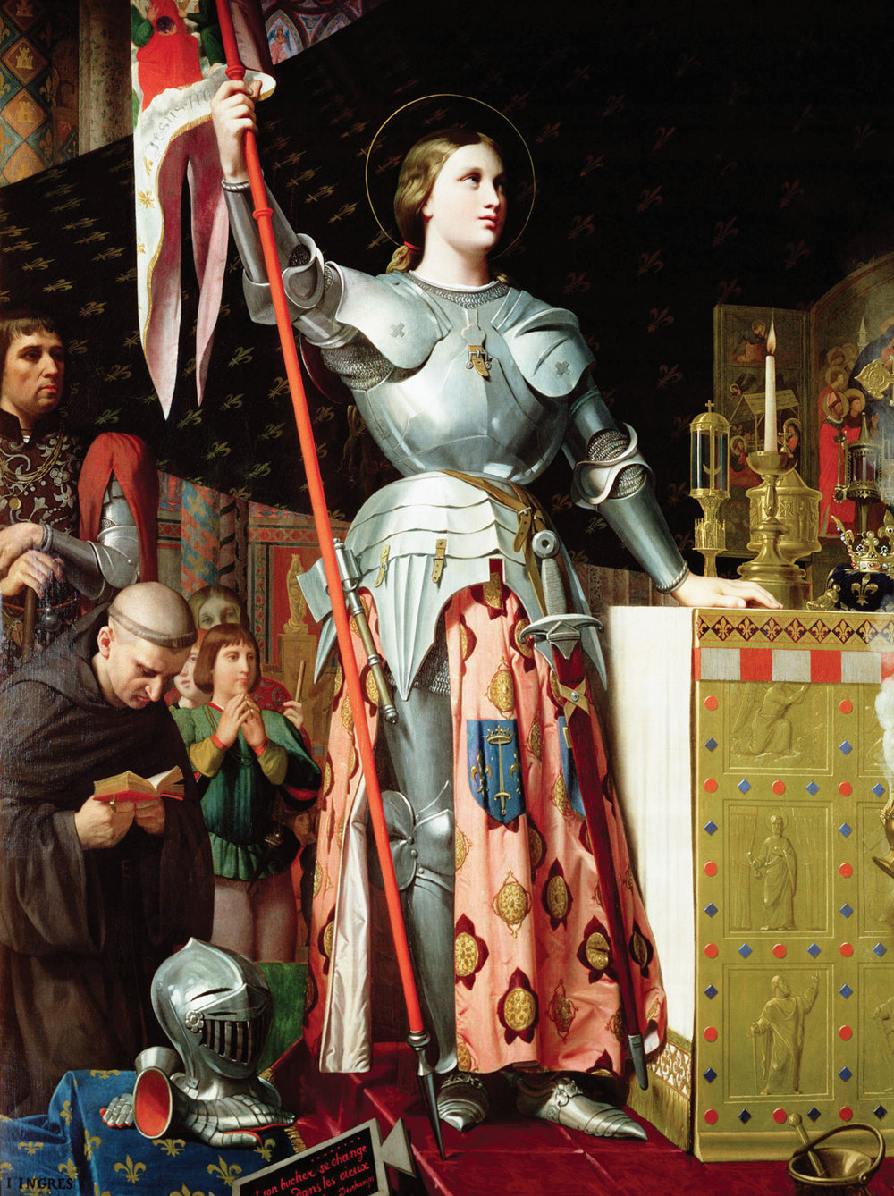 """Joan of Arc at the coronation of King Charles VII at Reims cathedral"" by Jean Auguste Dominique Ingres (1854). Via  Wikimedia Commons"
