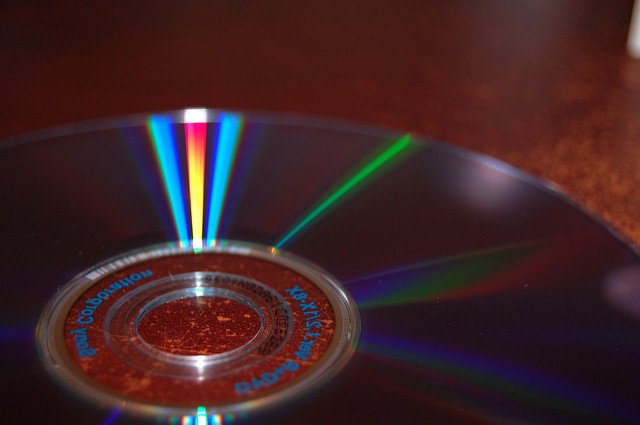 """DVD"" - papanooms. Via  Flickr . License:  CC BY-SA 2.0"