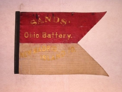 The guidon of the Eleventh Ohio Independent Battery.