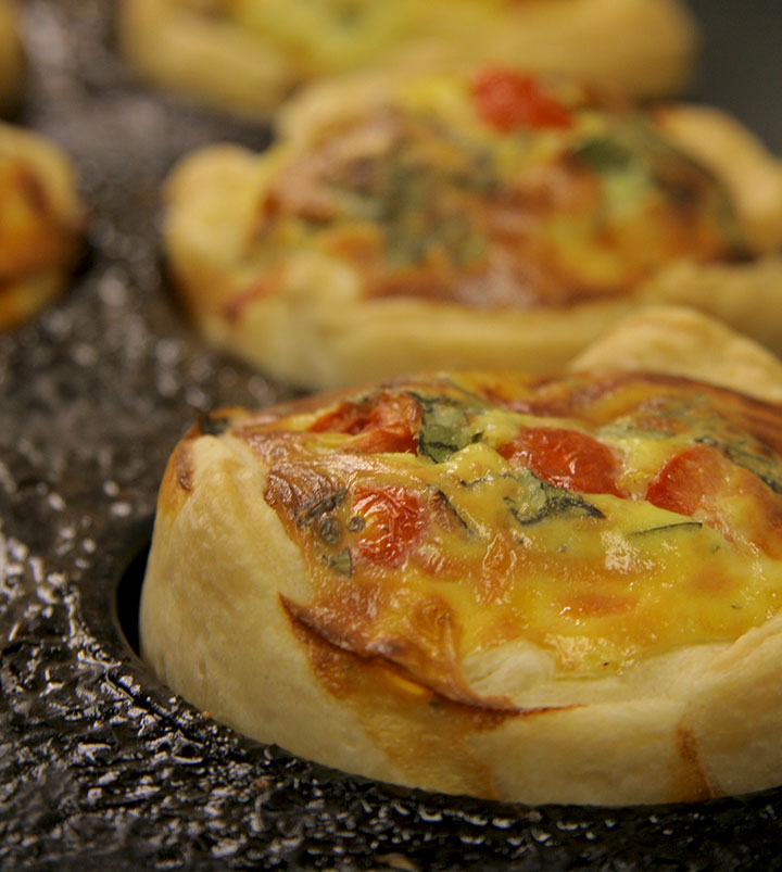 Single serving QUICHE, fresh from the oven... every day.