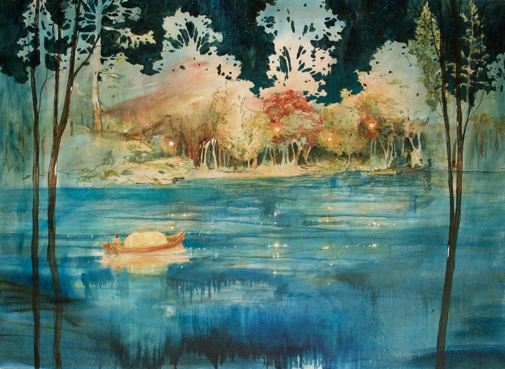 GALA FINE ART Daniel Ablitt, Waiting by the Water, oil on panel, 110x80cm.jpg
