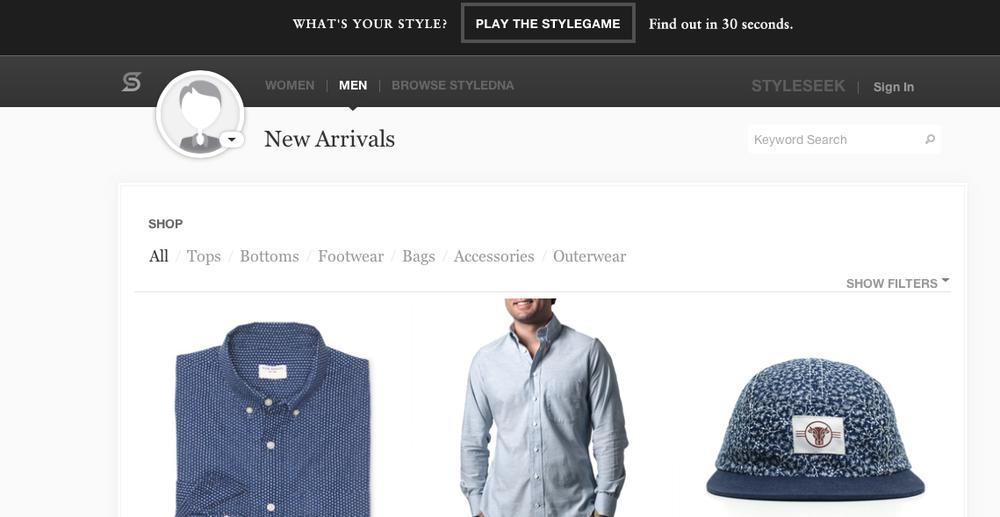 StyleSeek screen shot