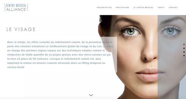 Site Web du Centre Médical Alliance - chirurgie esthéthique