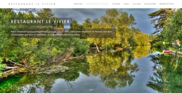 """Site Web du restaurant une étoile Michelin """"Le Vivier"""""""