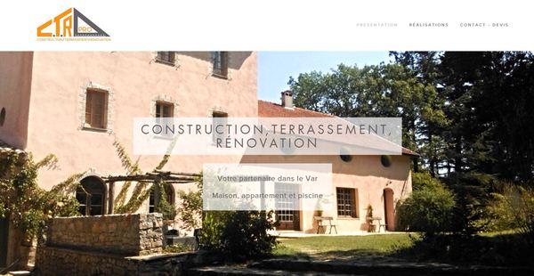 Site Web de l'entreprise de construction CTR PRO