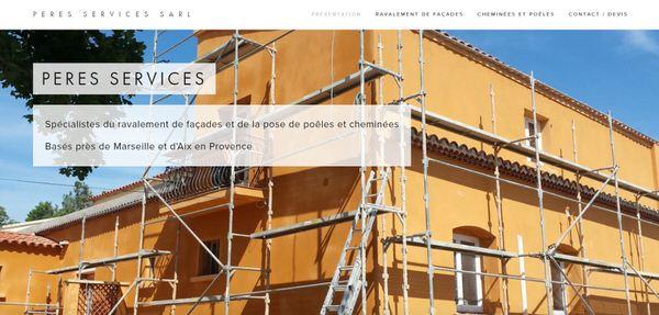 Création du site Web de l'entreprise  PERES SERVICES  +  marketing digital