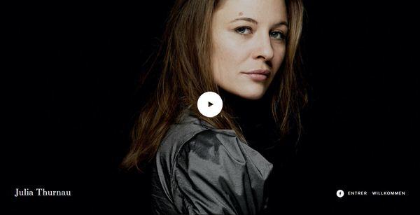 Refonte site Web trilingue de Julia Thurnau, actrice