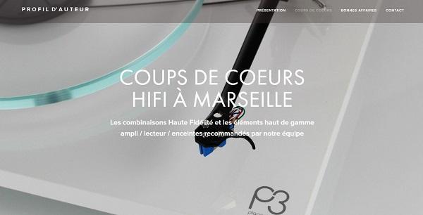 Site web de Profil d'Auteur magasin de haute fidélité