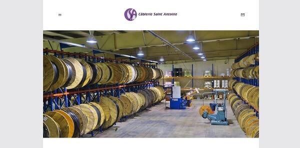 Refonte site Web Cablerie de Saint Antoine distributeur de matériel électrique