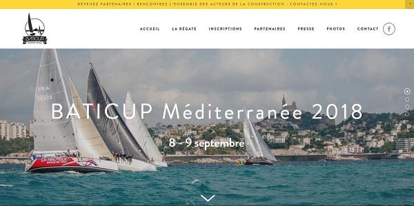 Création site Web  Baticup Méditerranée  pour la fédération BTP 13