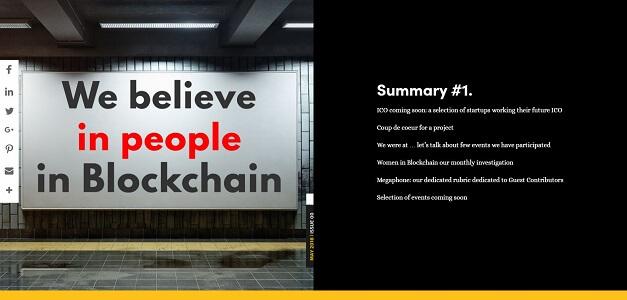 Création du web pour le magazine  Visions of Blockchain