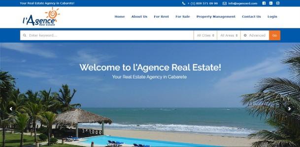 Refonte du web de  l'Agence Real Estate  +  marketing digital