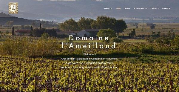 Refonte du site web bilingue du  Domaine de l'Ameillaud