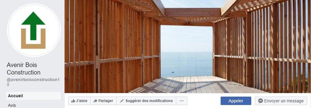 Page Facebook de Avenir Bois Construction