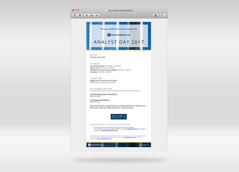 VGR Analyst Day Invite