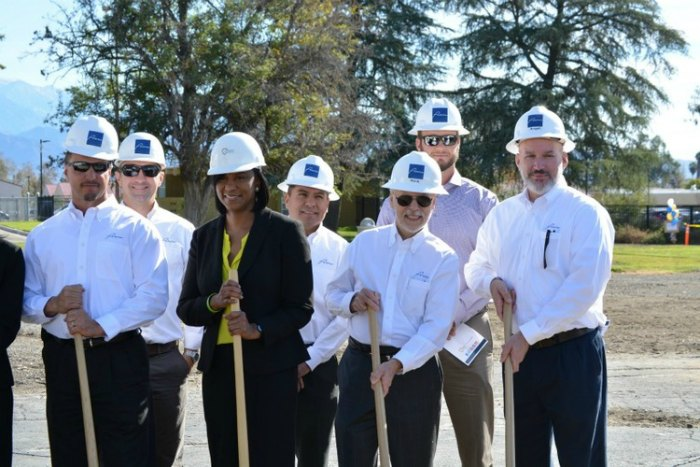 Perera Construction team at the ground-breaking ceremony.