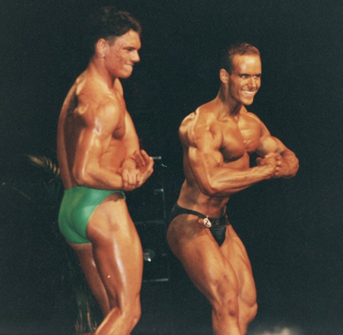 Winning the Junior Mr Europe at 20 years old in Holland 1992.
