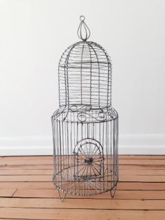 Vintage Silver Bird Cage