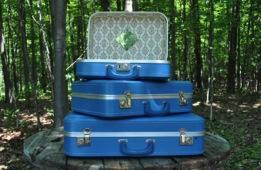 Blue Vintage Suitcases