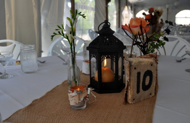Birch/Burlap Table Numbers