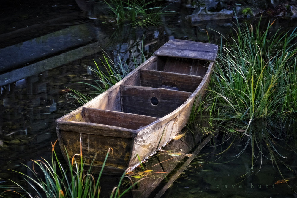 Boat and Koi Pond, Lan Su Chinese Garden, Portland  2016