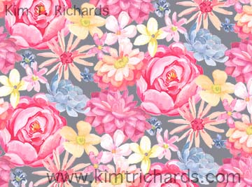 Garden Gate floral print. Copyright 2015 Kim T. Richards. All rights reserved.