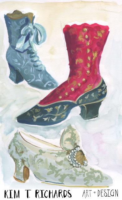 Vintage shoes sketchbook page from November 2015.