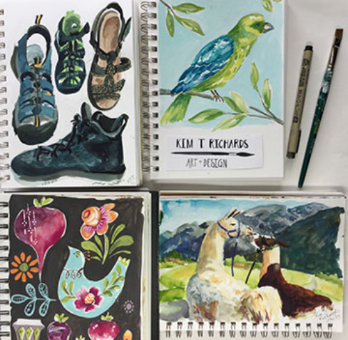 A selection of pages from the sketchbooks I filled in 2015.