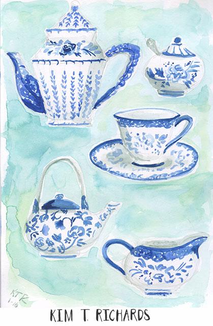 Sketchbook page 1-16 Kim T. Richards