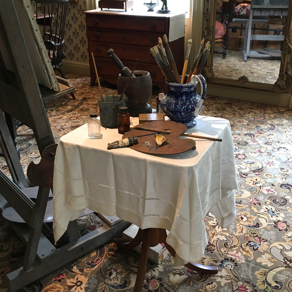 The Artist's room in the Florence Griswold Museum
