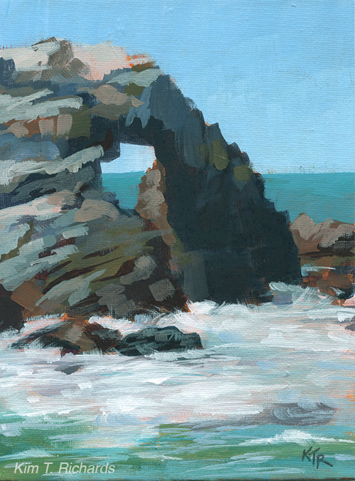 "Seal Rock  6x7"" acrylic on canvas panel $70 unframed"